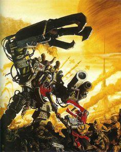 Warhammer 40k, Ork Warboss Ghazghkull vs. Imperial Guard Comissar Yarrick
