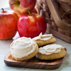 applesauce cookies with chai spice browned butter frosting