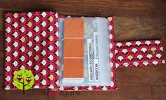paint chip and fabric swatch organizer tutorial