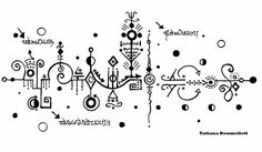 Nouveau Tattoo, Ancient Scripts, Bullet Journal Month, Doodle Borders, Magic Symbols, Tattoo Flash Art, Symbolic Tattoos, Drawing Techniques, Doodle Art