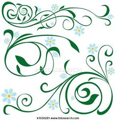 Clipart of Floral elements k1656281 - Search Clip Art, Illustration Murals, Drawings and Vector EPS Graphics Images - k1656281.JPG