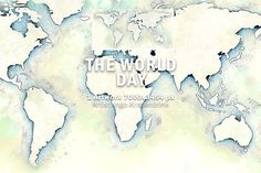 World Map Day Illustration by fotomakr on @creativemarket