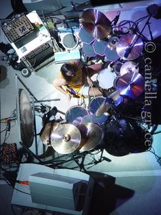 Danny Carey drum set a. Music Love, Music Is Life, Danny Carey, Tool Music, Tool Band, How To Play Drums, Drummer Boy, Drum Kits, Band Posters