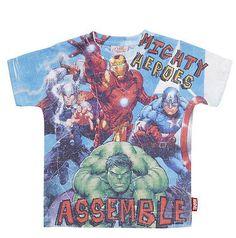 Boys Graphic Print Marvel Avengers Superhero T Shirt £11.99 #marvel #marvelshirt #avengers #hulk #captainamerica