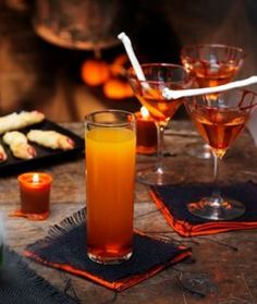 Blood Orange Soda, perfect for kids at a Halloween party. Use Torani to make your party drinks festive AND delicious!