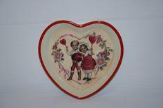 valentine dishvalentine decorvictorian valentine by ANewDayVintage, $7.25