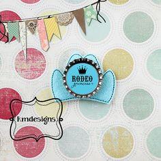 Bottle cap cowboy hat feltie ITH Embroidery design file