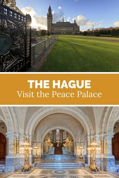 The Hague, Peace Palace. And absolute gem on your The Hague visit: a tour through the Peace Palace. Holland Cities, Visit Holland, Holland Beach, The Hague, Where To Go, Places To See, Netherlands, The Good Place, Travel Inspiration