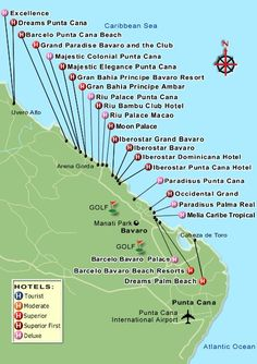 Punta Cana Resort Map                                                                                                                                                                                 Más