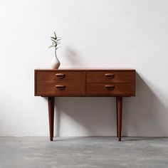 Vintage Kai Kristiansen chest of drawers for FM in teak. Picture by . Mid Century Bedroom, Mid Century House, Modern Decor, Mid-century Modern, Contemporary, Mid Century Modern Design, Mid Century Modern Furniture, Minimalist Decor, Chest Of Drawers