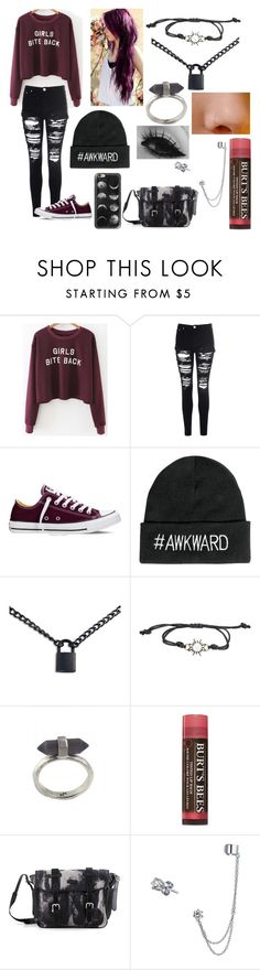 """""""I'm a goner, somebody catch my breath."""" by beautifulchaos11 ❤ liked on Polyvore featuring Glamorous, Converse, Boohoo, Karen Kane, Burt's Bees, Bling Jewelry and Casetify"""