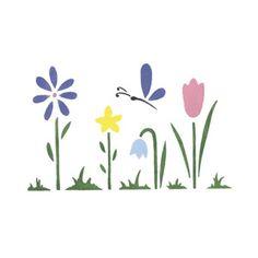 Designer Stencils: WHIMSICAL FLOWERS MINI