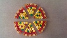Hama/Perler Bead Pizza by FortheloveofJags on Etsy, $4.50