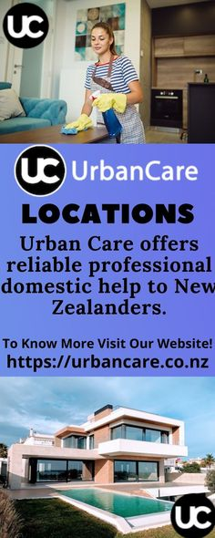 Urban Care offers reliable professional domestic help to New Zealanders. Residents in Auckland, Christchurch, and Wellington can book a Clean, Nanny, or Caregiver fast and quick either through our Mobile App or a computer.We have trained professionals ready to provide our dear clients valuable and high-quality Home Cleaning. Domestic Cleaning Services, Professional Services, Auckland, Clean House, Urban, Caregiver, Mobile App, Outdoor Decor, Book