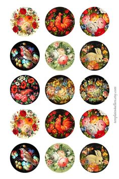 Digital Collage Sheet Decorative Russian by Bottle Cap Projects, Bottle Cap Crafts, Bottle Cap Art, Bottle Cap Images, Decoupage Vintage, Vintage Paper, Collage Sheet, Collage Art, Creation Bougie
