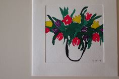 Watercolour, Spring Tulips 2014