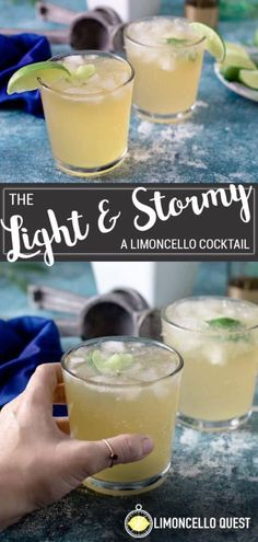 Limoncello Cocktails, Italian Cocktails, Summer Cocktails, Drinks With Lemoncello, Craft Cocktails, Beer Cocktail Recipes, Alcohol Drink Recipes, Cocktail Drinks, Fun Drinks