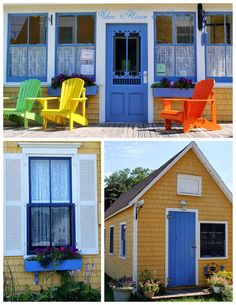 Victoria by the Sea. Canadian Things, Glass Houses, House Gardens, Prince Edward Island, Anne Of Green Gables, Cottage Style, Fireplaces, Porches, Places To Visit