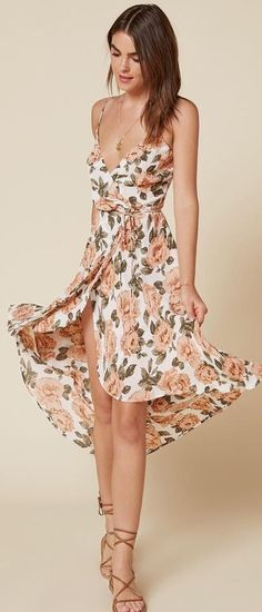 Floral Midi Dress                                                                             Source