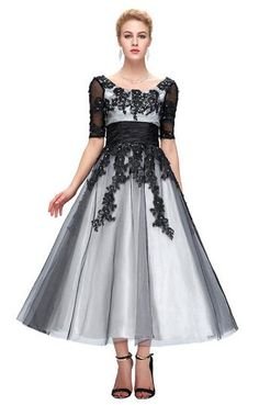 Long Lace Evening Dresses Elegant Half Sleeve Plus Size Like and share if you think it`s fantastic! Get it here