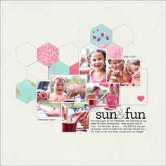 Layout Idea - love the hexagons