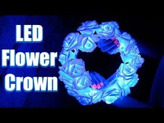 In this video tutorial I show you how to make a DIY LED Flower Crown. Perfect craft for your next festival, is so easy and beautiful! Flower Crown Tutorial, Diy Flower Crown, Diy Crown, Diy Flowers, Bow Tutorial, Flower Crowns, Fabric Flowers, Diy Unicorn Headband, Diy Headband