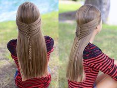Hairstyles and haircuts for long hair Haircuts For Long Hair, Cute Hairstyles, Updo, Braided Hairstyle, Bbq Outfits, Waterfall Twist, Half Braid, Diys, Ageless Beauty