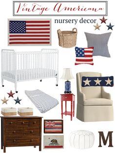 Vintage Americana Nursery Inspiration