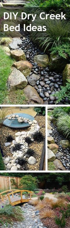 unbelievable dry creek bed landscaping ideas. How to Make Rock Mulch Look Amazing  Outdoor IdeasBackyard IdeasOutdoor SpacesOutdoor LivingDry Creek BedDrainage IdeasDrainage SolutionsGarden Install a Dry Bed creek bed Yards and Campaign