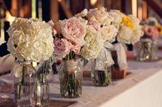 rustic floral centerpieces
