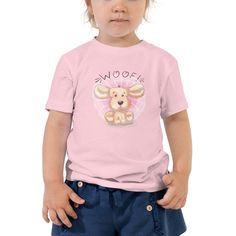 Let your toddler do their thing while feeling super comfy and looking extra stylish in this short-sleeve jersey t-shirt from 100% cotton with a unique print. The tee is soft, durable, and bound to become the staple of your toddlers wardrobe. • 100% cotton • Pre-shrunk fabric • Side-seamed • Relaxed fit for extra comfort The post Woof – Toddler Short Sleeve Tee appeared first on Dullaj.com. Tshirts Online, Shirts For Girls, Short Sleeve Tee, Toddlers, Comfy, Stylish, Tees, Unique, Fit