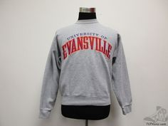 Oarsman Evansville University Purple Aces Crewneck Sweatshirt sz M Medium SEWN #Oarsman #EvansvillePurpleAces