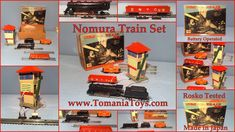 TOMS TECH TOYS: TRAINS LOCOMOTIVES Toy Model Cars, Tech Toys, Car Makes, Train Set, Battery Operated, Locomotive, Tin, Japan, Pewter