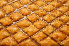 As requested an original link from a newspaper: A good greek baklava recipe tutorial. Cookie Desserts, Just Desserts, Delicious Desserts, Dessert Recipes, Yummy Food, Lebanese Recipes, Greek Recipes, Homemade Baklava Recipe, Greek Baklava