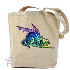 Cute Sleeping Baby Dragon Tote Bag