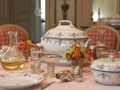 Just in time for your next dinner party: an 82-piece set of 18th-century Niderviller porcelain dinner service ($11,000-$16,000) and a 56-piece Bohemian gilded glass service (estimate $1,400-$2,000).