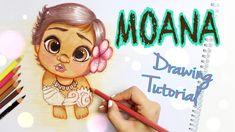 DISNEY BABY MOANA - DRAWING TUTORIAL