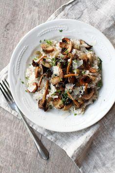 Mushroom and barley salad with rosemary and thyme