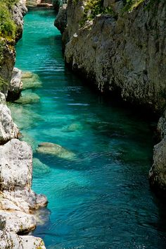 Turquoise water - Soca River, Slovenia