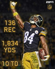 c18869f31ff The receiving yards in a single season in NFL history. What a season for Antonio  Brown!