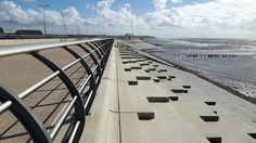 Completed section of new sea wall at Anchorsholme, northern Blackpool