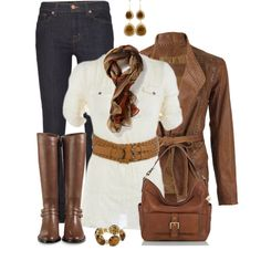 """""""Jeans and Knee High Boots"""" by daiscat on Polyvore"""