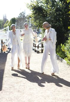 Jess, Simone and Hazel look all right in all white!