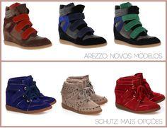 sneaker com salto novos modelos arezzo schutz