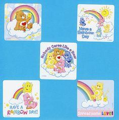 15 Care Bears Glitter Large Stickers Party Favors | eBay