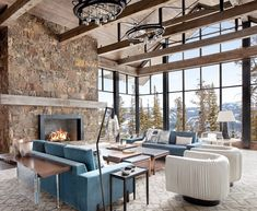 Home Interior Design .Home Interior Design Modern Mountain Home, Mountain Living, Mountain Home Interiors, Mountain Homes, Cottage Interiors, Home Decor Accessories, Cheap Home Decor, Great Rooms, Home Remodeling