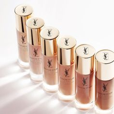 YSL Touche Eclat Le Teint Radiance Awakening Foundation SPF 22 - Beauty Trends and Latest Makeup Collections Yves Saint Laurent, Eye Makeup Tips, Love Makeup, Stunning Makeup, Easy Makeup, Ysl Cosmetics, Foundation With Spf, Foundation Brush, Makeup Foundation