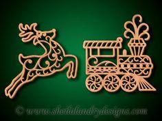 SLDK506 - 10 Traditional Christmas Filigree Ornaments