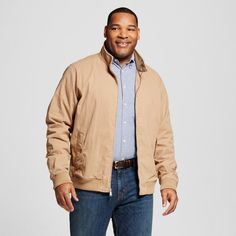 Men's Big & Tall Harrington Jacket  (Green) 3XB Tall - Merona