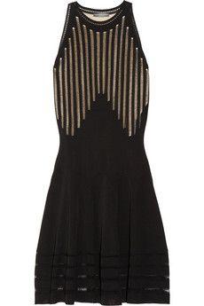Alexander McQueen  Pointelle-paneled fine-knit dress